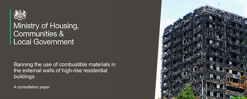 Banning the use of combustible materials in the external walls of high-rise residential buildings