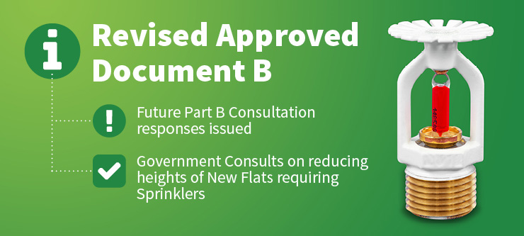 Future Part B Consultation responses issued & Government Consults on reducing heights of New Flats requiring Sprinklers