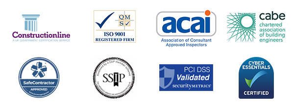 Salus: Construction Line, ACAI, CABE, Cyber Essentials, SSIP, PCI DSS, Safe Contractor Approved